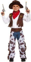 Bruine Henbrandt KINDEREN JONGENS 4-Delig Luxe Wild Wild West Coyboy Kostuum voor Kinderen | Coyboy Sheriff Kleding | Carnavalskleding | Verkleedkleding | Jongen | Maat: Large 10-12 Jaar