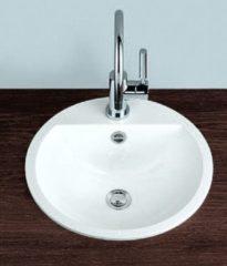 Alape EB inbouwwastafel, wit, diepte 450mm breedte/diameter 450mm rechthoekig