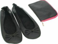 Meander elegant home accesoires Pocket Shoe zwart maat 40/41 - slofje voor onderweg