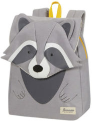 Grijze Sammies by Samsonite Happy Sammies Eco Backpack S Plus raccoon remy Kindertas