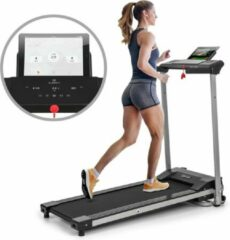 Zwarte Klarfit Treado Active loopband 1 PK 10 km/h 36x100 cm Bluetooth touch-display