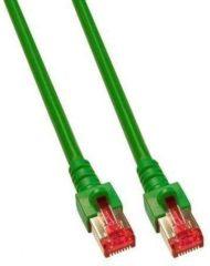 EFB Elektronik K5514.25 RJ45 Netwerk Aansluitkabel CAT 6 S/FTP 25.00 m Groen Vlambestendig, Halogeenvrij, Snagless, Vergulde steekcontacten