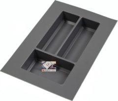 Antraciet-grijze Duovorm Kunststof Bestekbak Classic Serie Antraciet, 200-300 mm