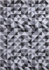 Impression Carpets Mykonos Basic Vloerkleed Grijs / Wit Laagpolig - 120x170 CM