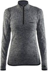 Thermoshirt met rits - Active comfort - Donkergrijs - lange mouw - Dames - Craft - S