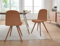 Andas Lederstuhl »stick classic« in walnut oder white oak Massivholz