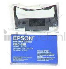 Zwarte Epson Ribbon Cartridge TM-U200/U210/U220/U230/U300/U375, black (ERC38B) printerlint