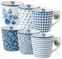 Blauwe Laura Ashley Blueprint Collectables Minimokken Set (6 delig)