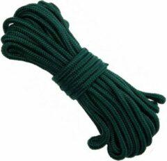 Groene Merkloos / Sans marque 2x Stevig outdoor touw/koord 5 mm 15 meter