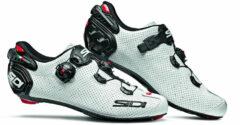 Witte Sidi Wire 2 Carbon Air Schoenen Heren, white/black Schoenmaat EU 45