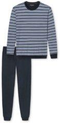 Bündchen-Pyjama Schiesser hellblau
