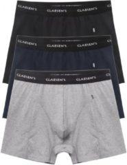 Zwarte Claesen's Heren Boxershorts Multi Stretch 3-Pack - L