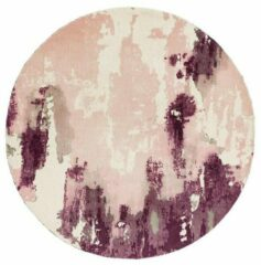 Roze Easy Living Laagpolig vloerkleed Easy Living Saturn Rug Pink Circle 200 rond