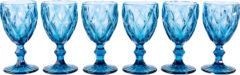 Weinglas-Set, 6-tlg. RWH blau