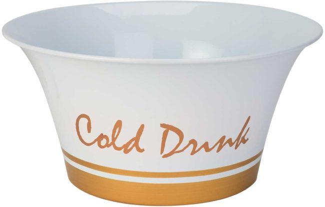 Afbeelding van Cosy&Trendy COLD DRINKS PARTYBOWL WIT-BAND GOUD D41X H20CM GEGALVANISEERD
