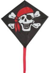 Invento eenlijnskindervlieger Mini Eddy Jolly Roger 30 cm zwart