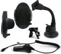 Zwarte Muvit universele houder & Micro-USB 2.0 A Maleutolader
