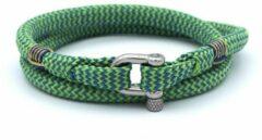MR. JACOB Chris groenblauwe dubbele touw armband