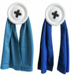 Bobbels & Putten Sport handdoek set - 2 x cool towel - blauw - ice towel- koel handdoek - cold pack - verkoelende handdoek - sterk absorberend - snel drogend - yoga - fitness - hard lopen