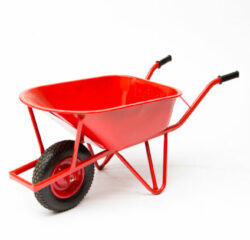 Klusgereedschapshop Kruiwagen staal versterkt frame 85ltr rood