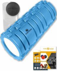 Lichtblauwe Rising-Phoenix RP® Foam Roller inclusief Massage Bal Foamroller Massage Roller & Massagebal - Met Tas, Triggerpoint Bal, Workout eBook & Poster