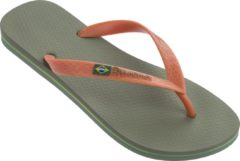 Groene Ipanema Classic Brasil Slippers - Men - Green/Orange
