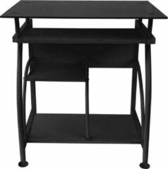 VDD Bureau laptop computertafel - ruimtebesparend - 70 cm x 50 cm - zwart