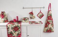 Rode Emme Pannenlap - luxe gobelinstof - Christmas Bardi - Kerst