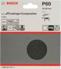 Schuurpapier voor schuurschijf met klittenband, ongeperforeerd Korrelgrootte 240 (Ã) 115 mm Bosch Accessories 2608605499 10 stuks