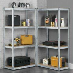 Grijze Merkloos / Sans marque 2 x Stellingkast / opbergrek - 160 x 80 x 40cm