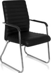 Hjh office Steel PU - Bureaustoel - Vergaderstoel - Bezoekersstoel - Zwart