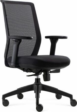 Afbeelding van BenS 837-Ergo-4 Zwart Ergonomische Bureaustoel met alle instel opties- Zwart
