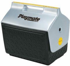 Grijze Igloo Playmate The Boss - Kleine koelbox speciaal voor de bouw - 13 Liter - Zwart/Zilver