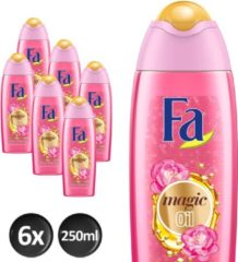 Fa Magic Oil Pink Jasmine - 6x 250 ml - Voordeelverpakking - Douchegel