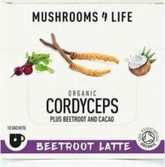 Mushrooms4Life - Cordyceps Bieten Latte - 10 zakjes