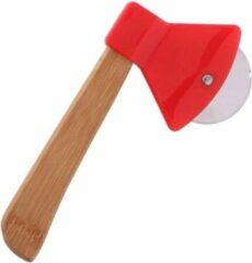 Oranje Orange85 Pizzaroller hakbijl - pizza mes - roller - snijder - 20x10cm