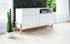 Perfecthomeshop Dressoir Scandinavisch Wit – 120x65x42 cm – Modern – Ruime opbergruimte