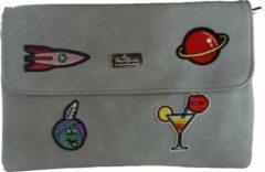 Jessidress Trendy Handtasje Dames enveloppe tas - Grijs