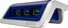 Leitz Style USB-oplader - 3 Poorten - Titanium Blauw