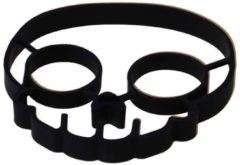 Zwarte SuperEasyCommerce Ei-vorm Schedel - Silicone - 14 X 12,7 CM - SEC
