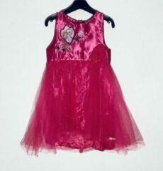 Disney Frozen jurk satijn/tule fuchsia maat 98/104