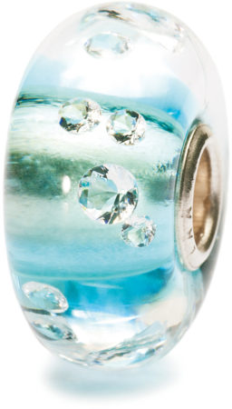 Afbeelding van Trollbeads TGLBE-00040 Diamond-like ijsblauw