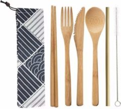 Bruine Davim Bamboe bestek - 8-delige set - Milieuvriendelijk