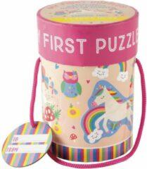 Floss & Rock Puzzels Unicorn - 11 x 15 cm - 4 puzzels