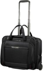 Zwarte Samsonite Laptoptrolley - Pro-Dlx 5 Business Case 15.6 inch Uitbreidbaar (Handbagage) Black