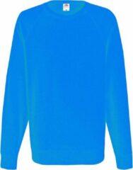 Azuurblauwe Fruit Of The Loom Heren Lichtgewicht Raglan Sweatshirt (240 GSM) (Azure Blauw)