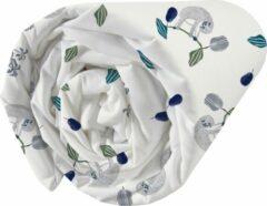 Witte Matt & Rose Hoeslaken Luiaard - Eenpersoons - 90 x 190/200 cm - Katoen