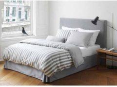 Grijze Marc O'Polo Classic Stripe - Dekbedovertrek - Eenpersoons - 140x200/220 cm + 1 kussensloop 60x70 cm - Grey