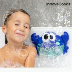 Blauwe Innovagoods Bad Speelgoed - Muzikale Krab Met Muziekjes En Zeepbellen - Leuk Cadeau Voor De Kleinsten - Baby Speelgoed Voor In Bad