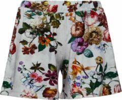 Grijze Essenza Natalie Fleur pyjamashorts met bloemenprint